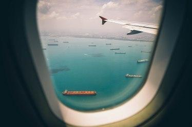 travel photo - airplane window