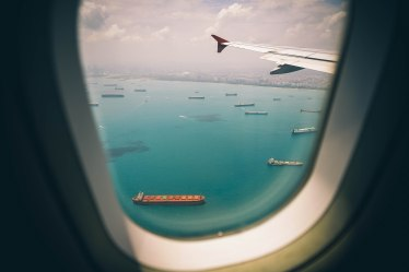 travel photo - airplane window